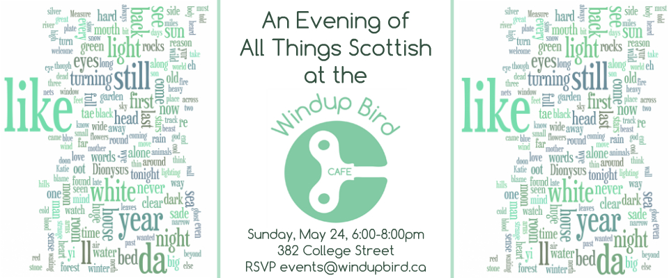 An Evening of All Things Scottish at the Windup Bird Cafe